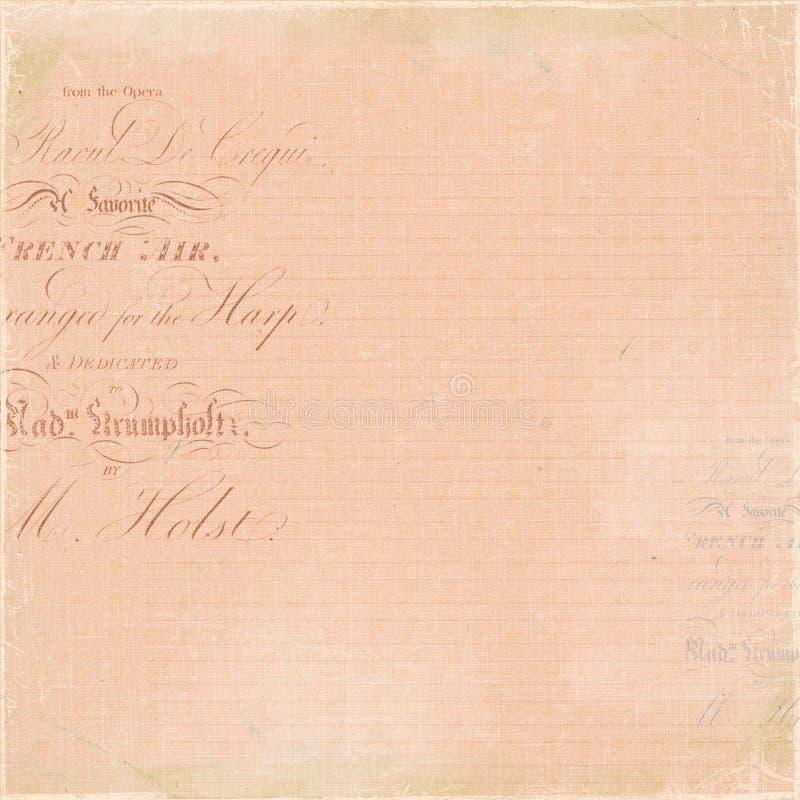 Uitstekende Franse het manuscriptachtergrond van de Brief stock foto's