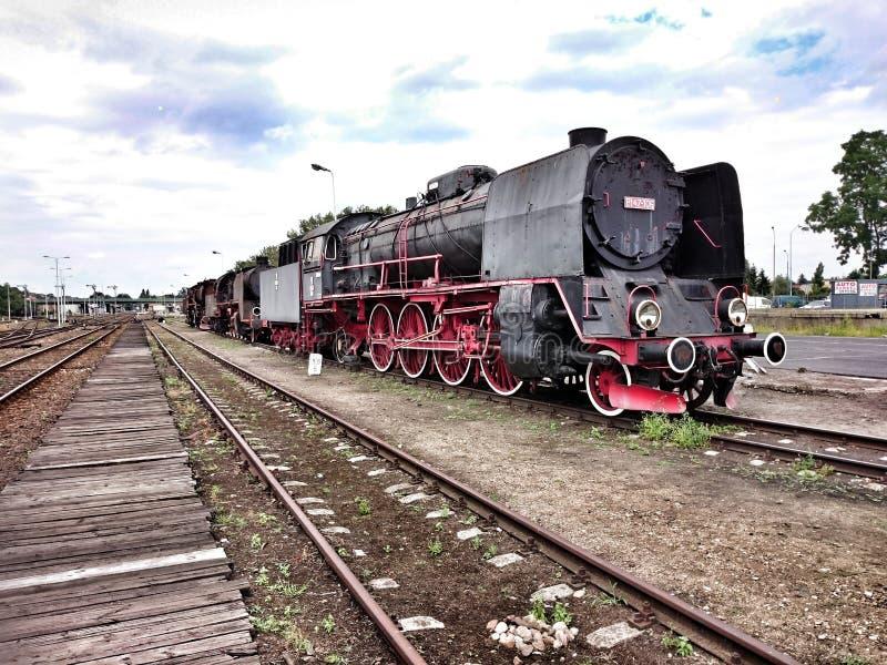 Uitstekende geïsoleerdes locomotief royalty-vrije stock fotografie