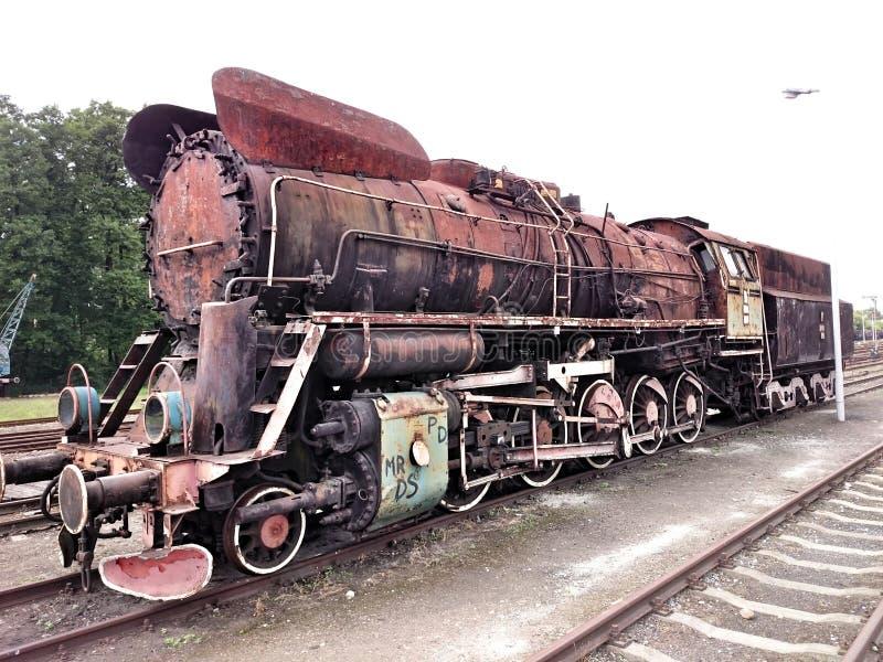 Uitstekende geïsoleerdes locomotief royalty-vrije stock afbeeldingen