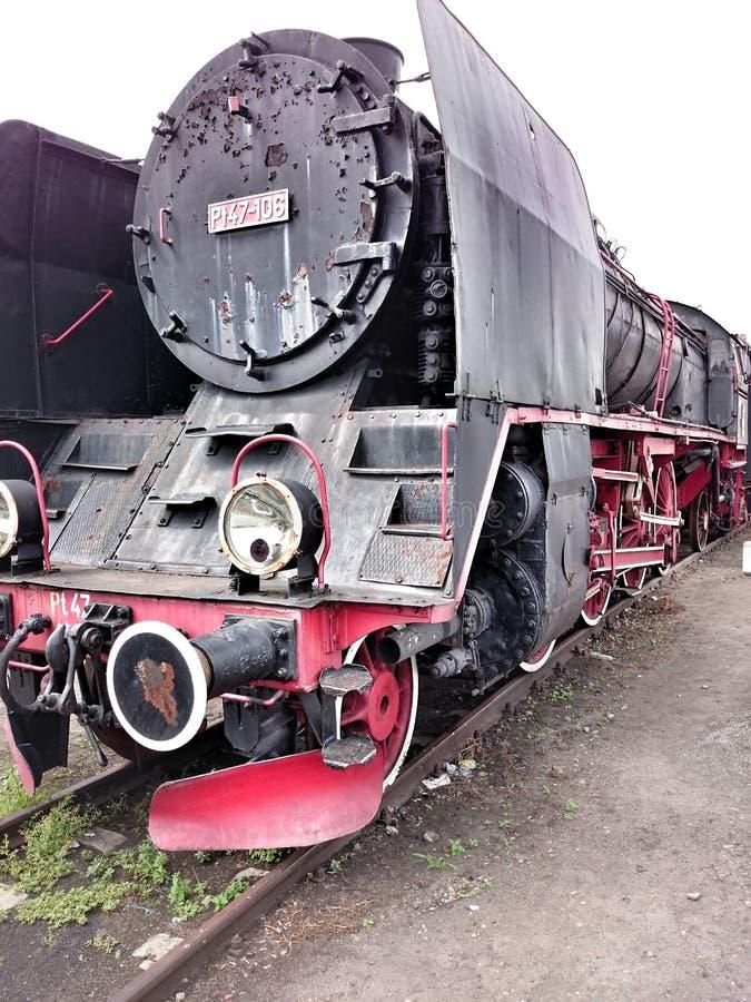 Uitstekende geïsoleerdes locomotief stock afbeeldingen
