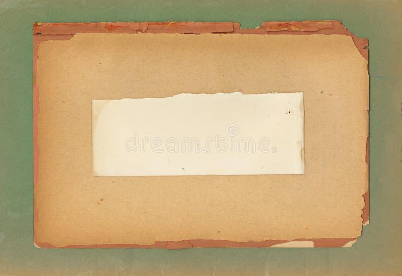 Uitstekende Gelaagde Documenten stock foto