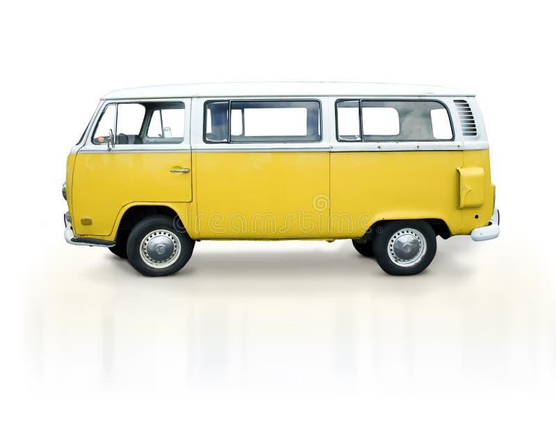 Uitstekende gele bestelwagen royalty-vrije stock fotografie