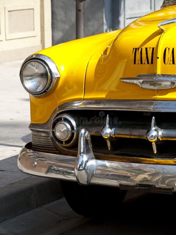 Uitstekende Gele Cabine royalty-vrije stock foto's