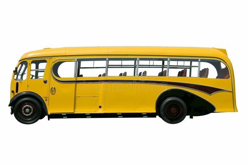 Uitstekende gele geïsoleerdea bus. stock foto's