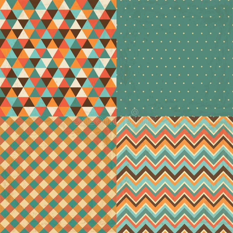 Download Uitstekende Geometrische Achtergrondpatroonreeks Vector Illustratie - Illustratie bestaande uit illustratie, naadloos: 39106611