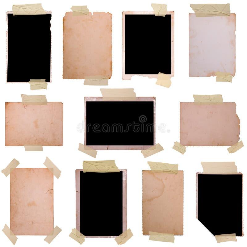 Uitstekende geplaatste fotoframes stock foto's