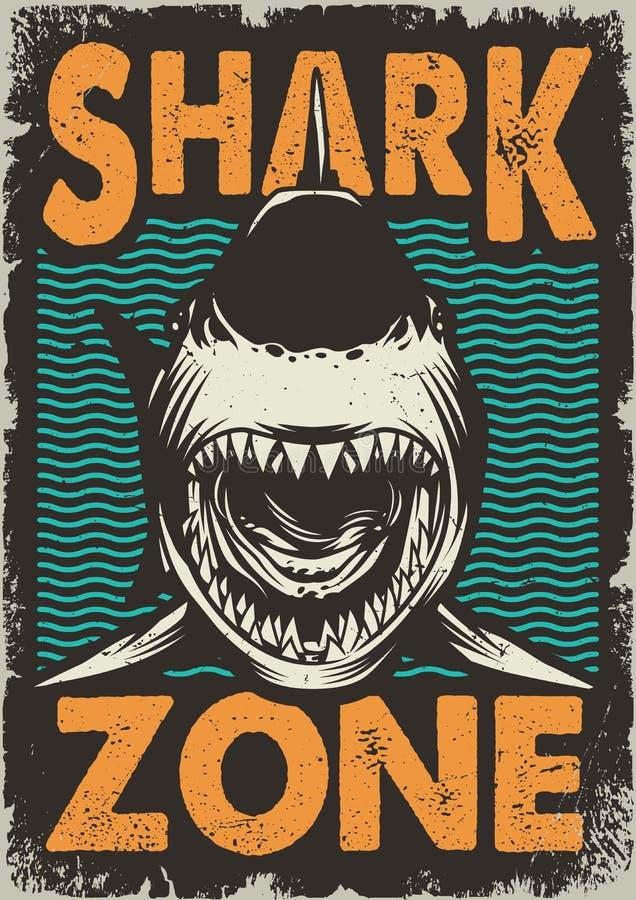 Uitstekende gevaarlijke streek voor het surfen concept stock illustratie