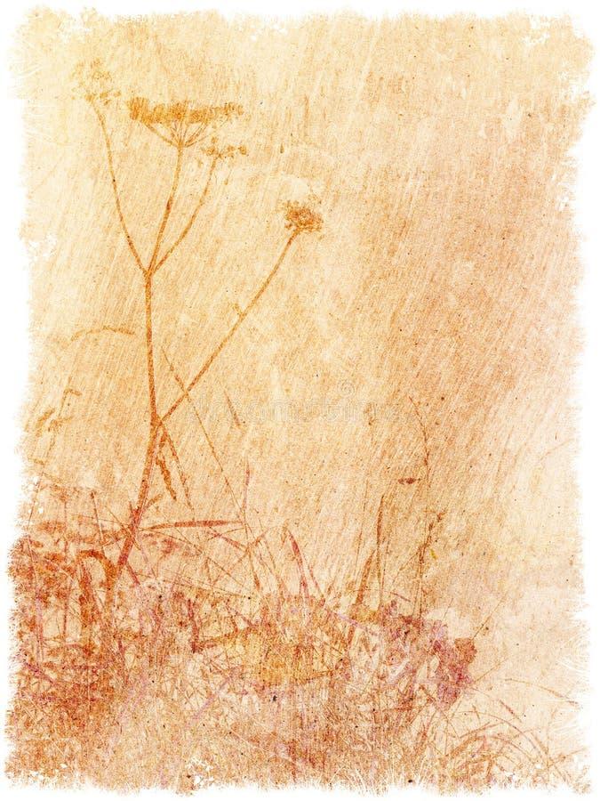 Uitstekende geweven bloemenachtergrond royalty-vrije illustratie
