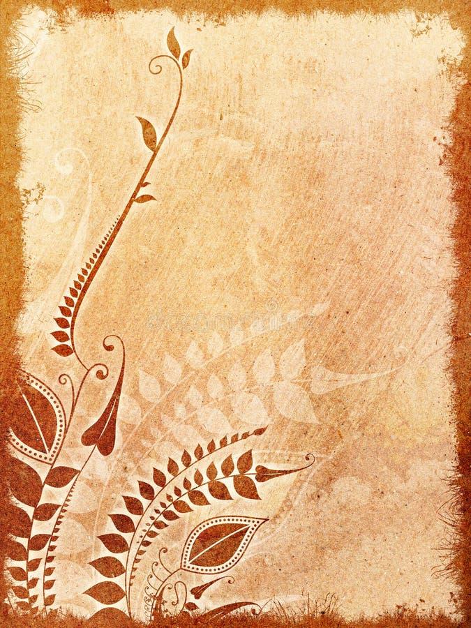Uitstekende geweven bloemenachtergrond met ruimte royalty-vrije illustratie