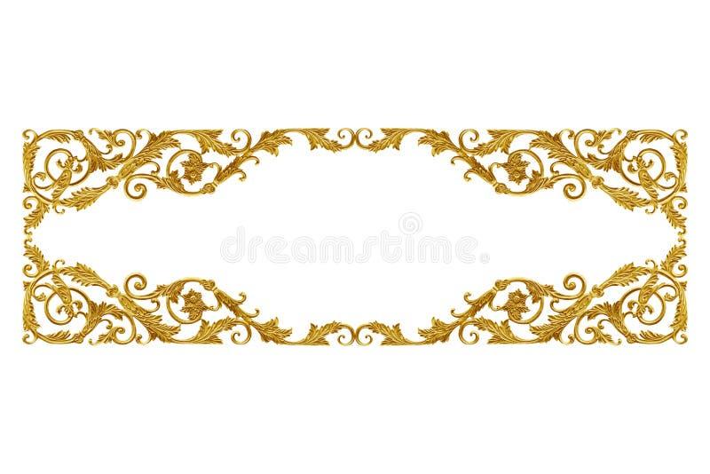 Uitstekende gouden bloemen van ornamentelementen voor decoratie royalty-vrije stock fotografie