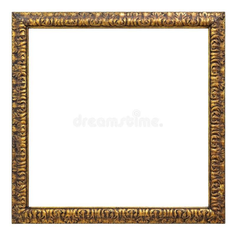 Uitstekende gouden kleurenomlijsting royalty-vrije stock fotografie