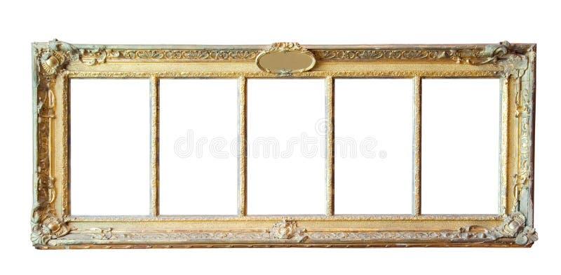 Uitstekende gouden omlijsting royalty-vrije stock afbeeldingen