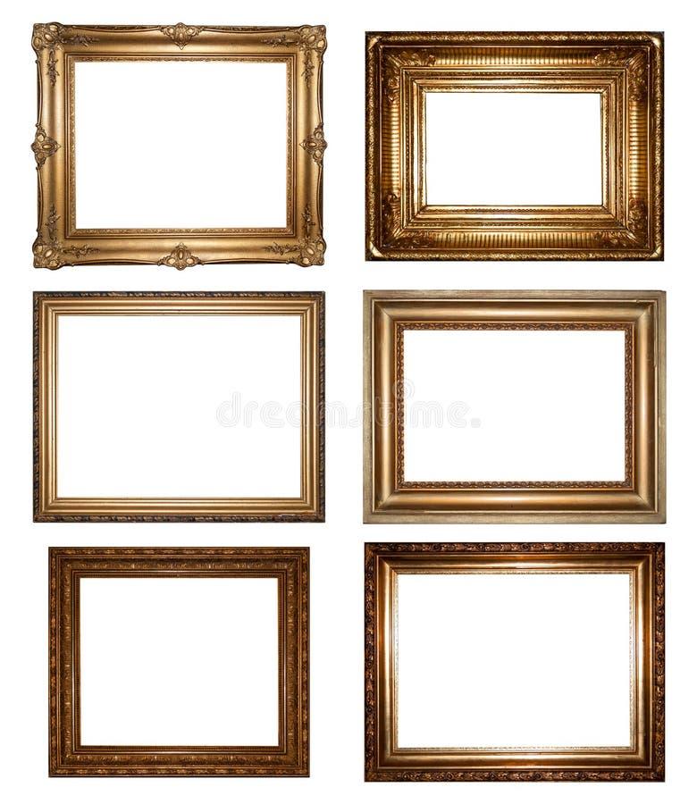 Uitstekende gouden omlijstingen royalty-vrije stock foto's