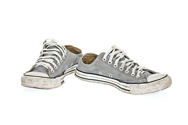 Uitstekende Grijze schoen stock afbeelding