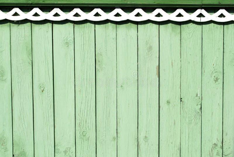 Uitstekende groene houten achtergrond stock afbeelding