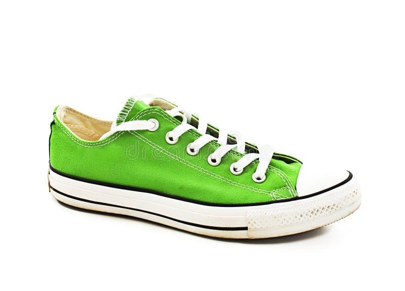 Uitstekende groene schoen stock foto