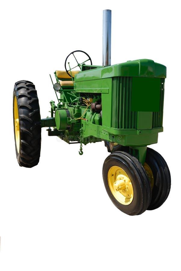 Uitstekende groene tractor royalty-vrije stock foto's