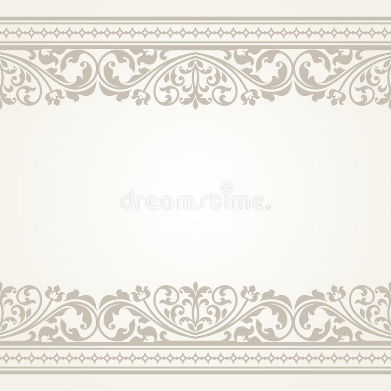 Uitstekende groetkaart royalty-vrije illustratie