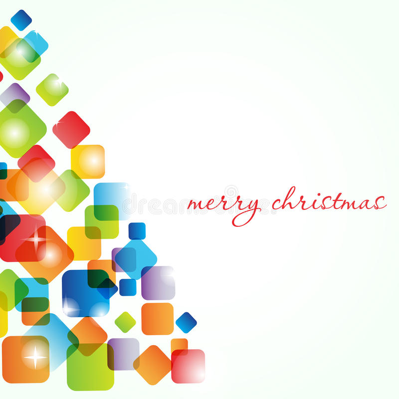 Uitstekende groetkaart met Kerstmisboom stock illustratie
