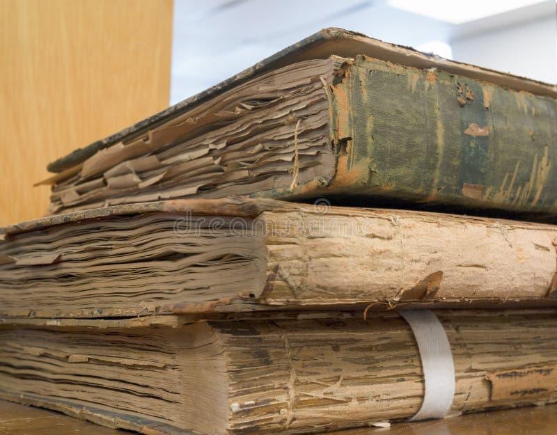 Uitstekende grootboeken stock afbeelding