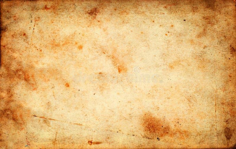 Uitstekende grunge oude document textuur als achtergrond royalty-vrije stock fotografie
