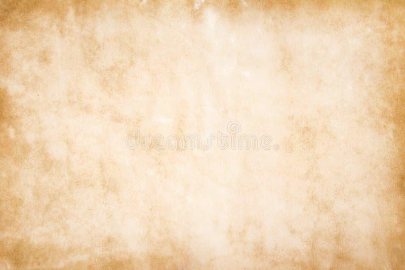 Uitstekende grungedocument patronentextuur, oude lege lichtbruine achtergrond stock foto's