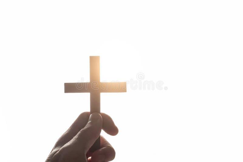 Uitstekende hand van een Christelijke mens stock afbeeldingen