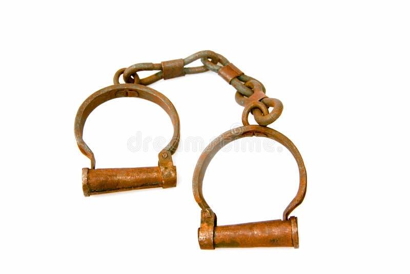 Uitstekende Handcuffs stock afbeeldingen