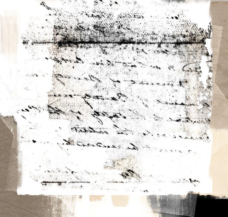Uitstekende handschrifttextuur royalty-vrije stock afbeelding