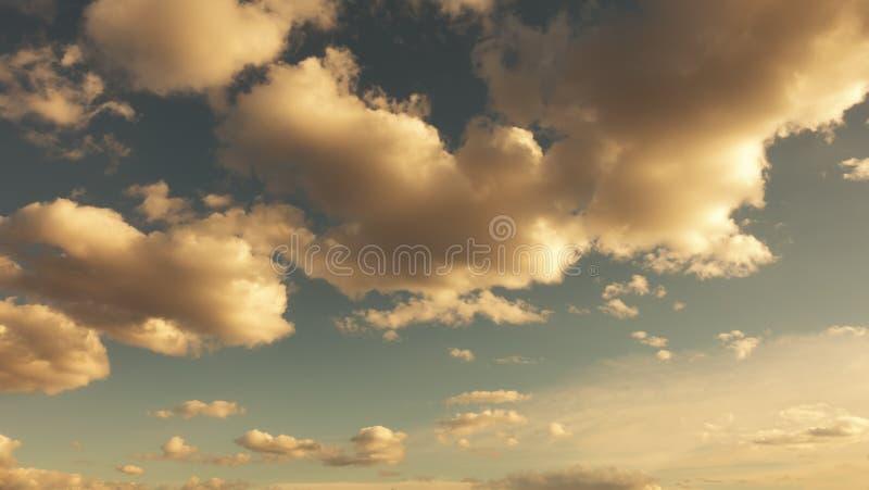 Uitstekende hemel Hemel uitstekende achtergrond met pluizige wolken royalty-vrije stock foto