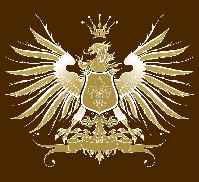 Uitstekende heraldische adelaar royalty-vrije illustratie