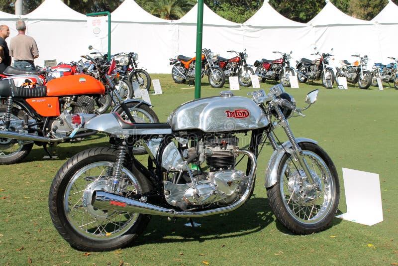 Uitstekende het rennen motorfiets stock afbeelding