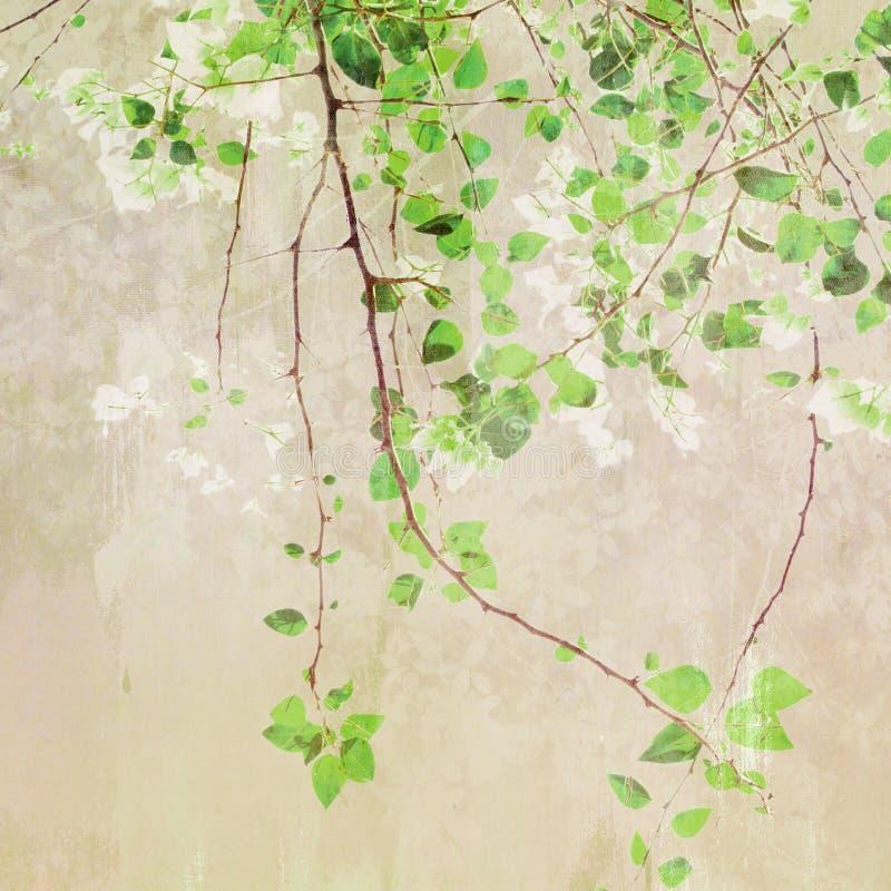 Uitstekende het Schilderen Treetop vector illustratie