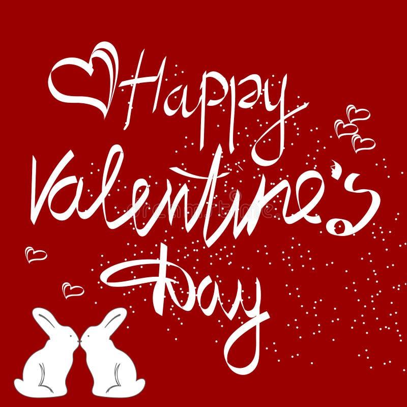 Uitstekende het Tekenachtergrond van de valentijnskaartendag stock illustratie