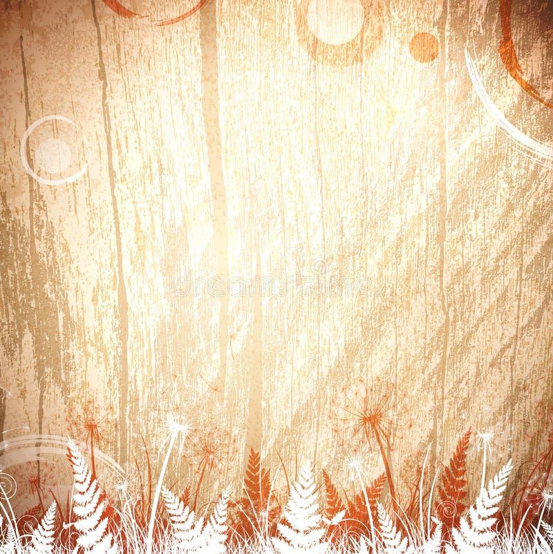 Uitstekende houten bloemenachtergrond vector illustratie