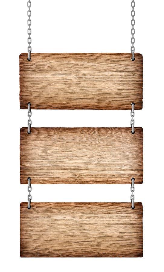 Uitstekende houten tekens royalty-vrije stock foto's