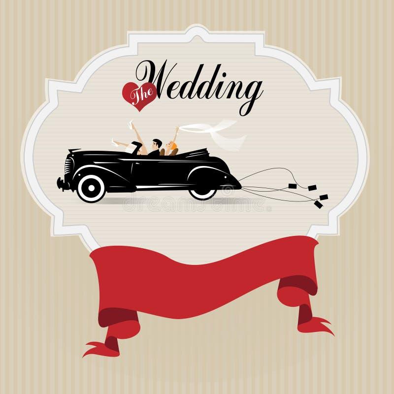 Uitstekende huwelijksachtergrond royalty-vrije illustratie