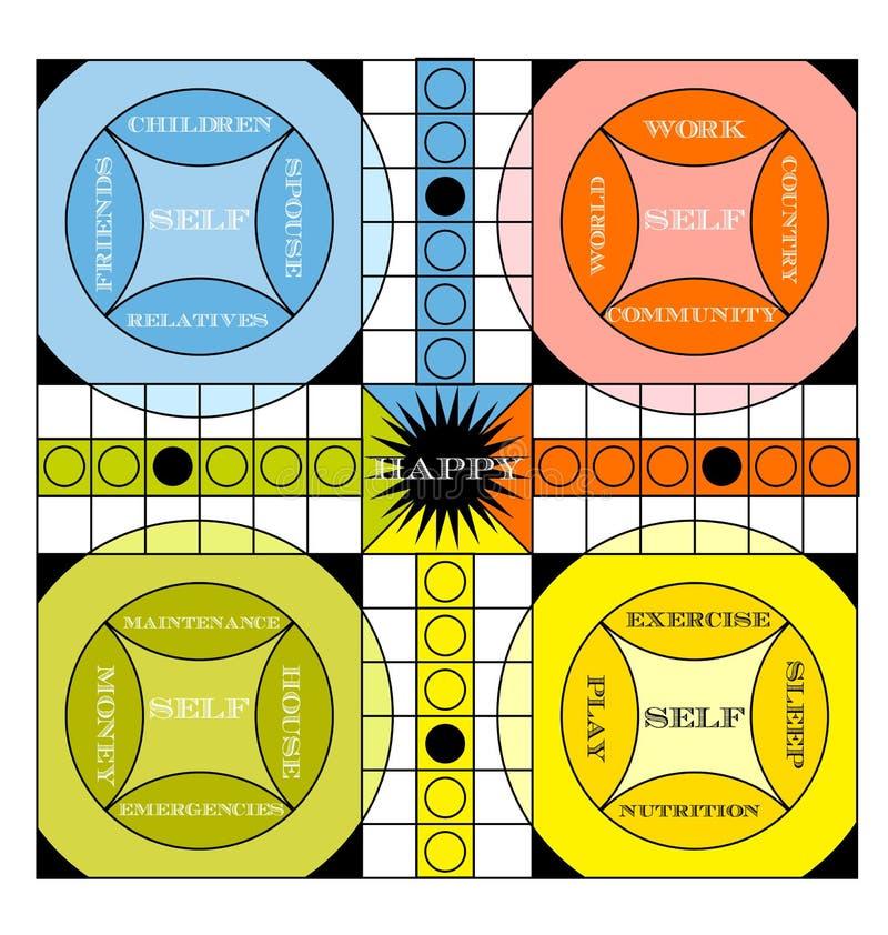 Uitstekende informatie-grafische spelraad royalty-vrije illustratie