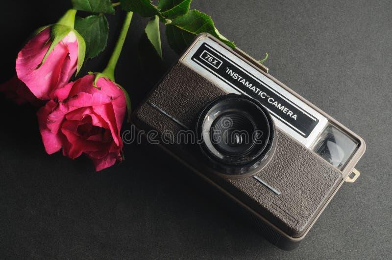Uitstekende instamatic Camera stock foto