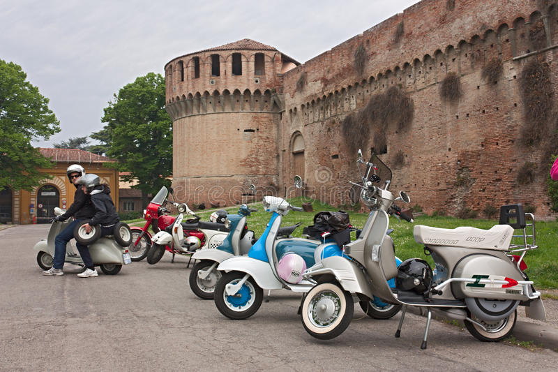Uitstekende Italiaanse autopedden royalty-vrije stock afbeelding