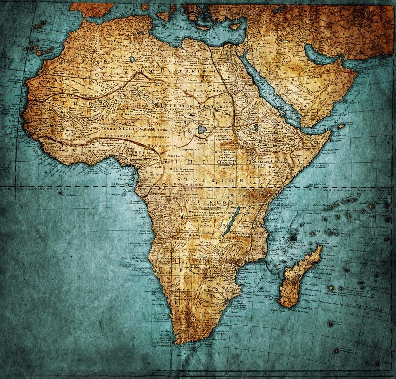 Uitstekende kaart Afrika