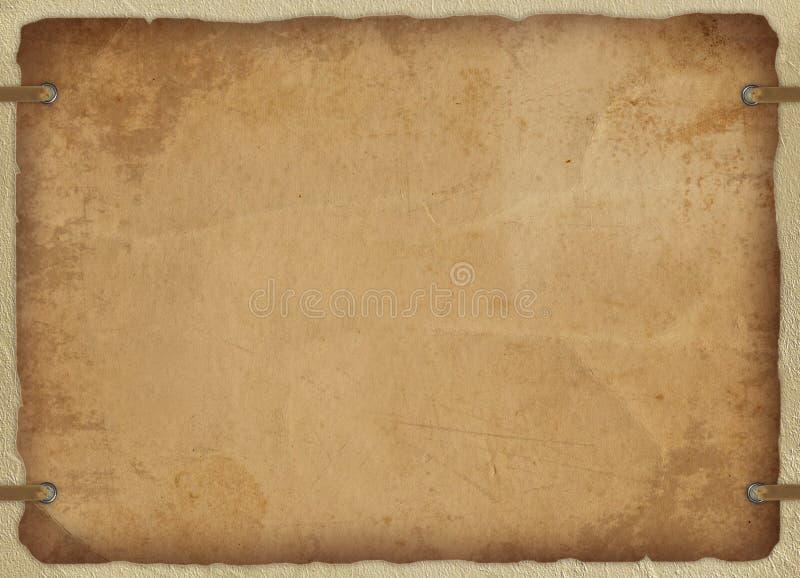 Uitstekende kaart van oud document vector illustratie