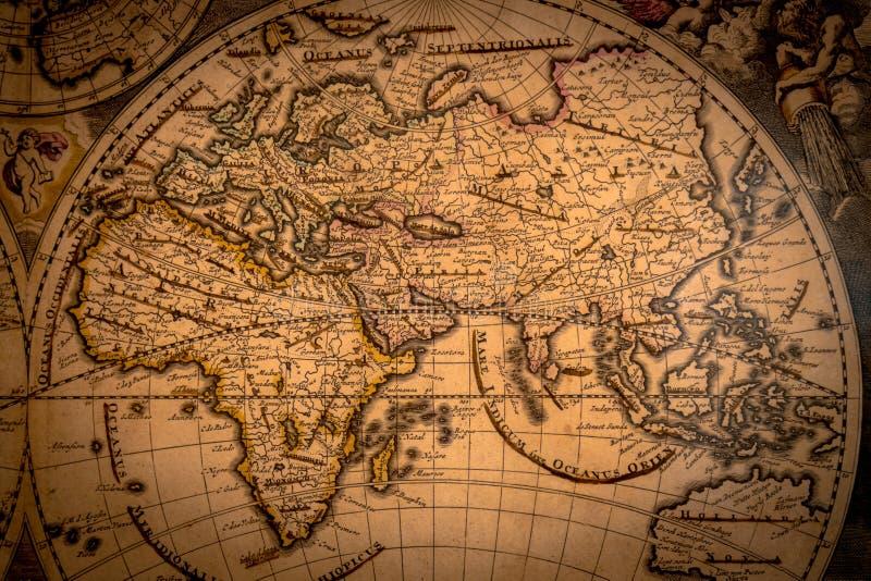 Uitstekende kaart van wereld 1733 stock foto's