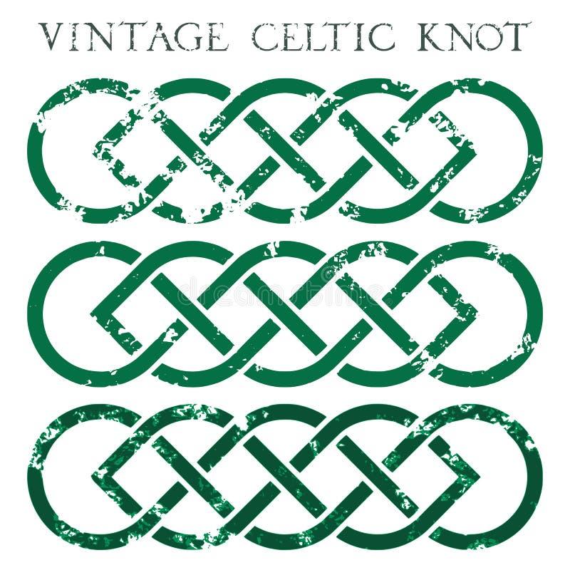 Uitstekende Keltische knoop stock foto