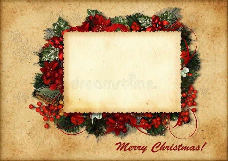 Uitstekende Kerstkaart vector illustratie