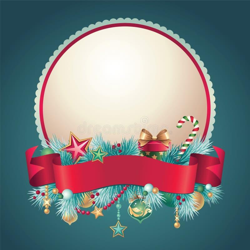 Uitstekende Kerstmis om groetbanner vector illustratie