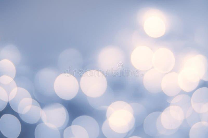 Uitstekende Kerstmisachtergrond met bokehlichten defocused bokeh royalty-vrije stock afbeelding