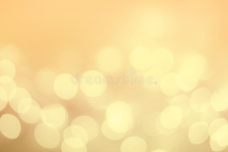 Uitstekende Kerstmisachtergrond met bokehlichten Gouden Defocused royalty-vrije stock afbeeldingen