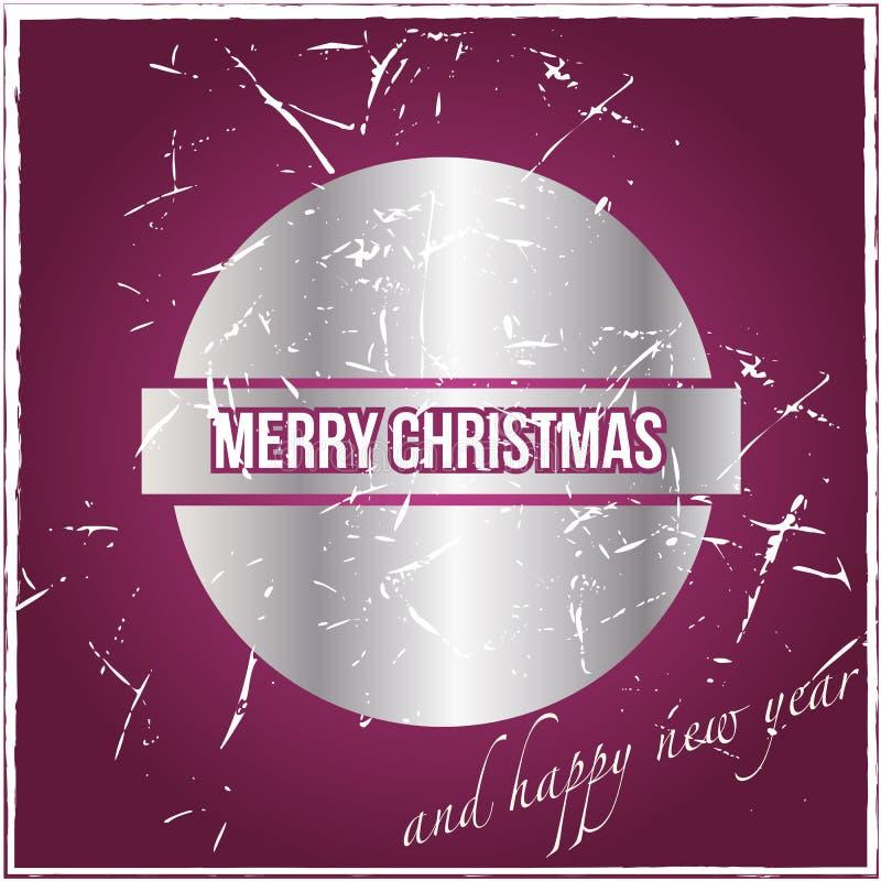 Uitstekende Kerstmiskaart vector illustratie