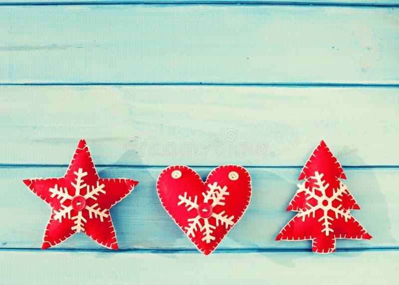 Uitstekende Kerstmisornamenten stock fotografie